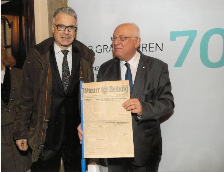 Vl: Dr. Hannes Schönner, Univ.-Prof. Dr. Franz Schausberger